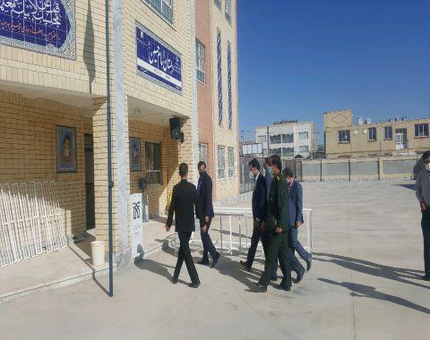 بازدید ریاست محترم آموزش و پرورش شهرستان از مجتمع فرهنگی آموزشی امام حسین علیه السلام